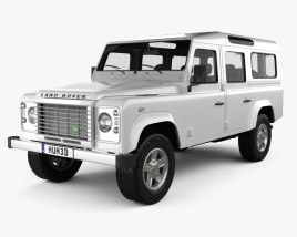 Land Rover Defender 110 Station Wagon 2011 3D model
