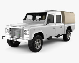 3D model of Land Rover Defender 130 High Capacity Double Cab PickUp 2011
