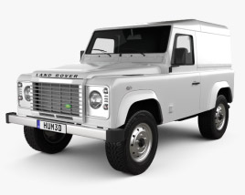 Land Rover Defender 90 hardtop 2011 3D model