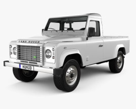 Land Rover Defender 110 pickup 2011 3D model