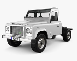 3D model of Land Rover Defender 110 Chassis Cab 2011