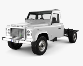 Land Rover Defender 130 Chassis Cab 2011 3D model