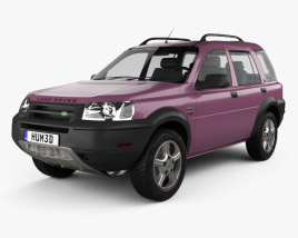 3D model of Land Rover Freelander 5-door 1997