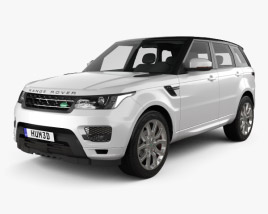 3D model of Land Rover Range Rover Sport Autobiography 2013