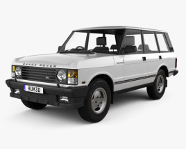 3D model of Land Rover Range Rover 1991