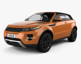 3D model of Land Rover Range Rover Evoque Convertible 2013