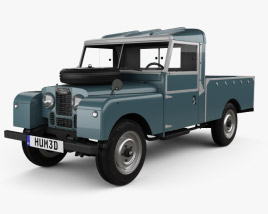3D model of Land Rover Series I 107 Pickup 1958