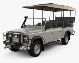 Land Rover Defender Safari Game Viewing 1990 3D model