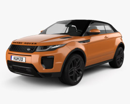 3D model of Land Rover Range Rover Evoque Convertible 2016