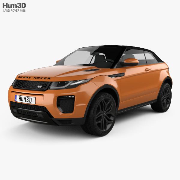 Land Rover Range Rover Evoque Convertible 2016 3D model