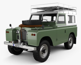 Land Rover Series IIA 88 Pickup 1968 3D model