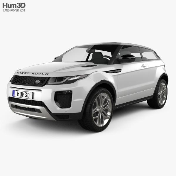 Land Rover Range Rover Evoque 3ドア 2015 3Dモデル