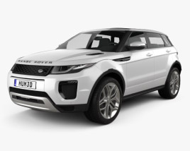 3D model of Land Rover Range Rover Evoque 5-door 2015