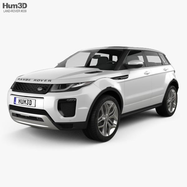 Land Rover Range Rover Evoque 5ドア 2015 3Dモデル