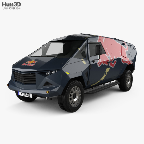 3D model of Land Rover Defender Red Bull Event 2016
