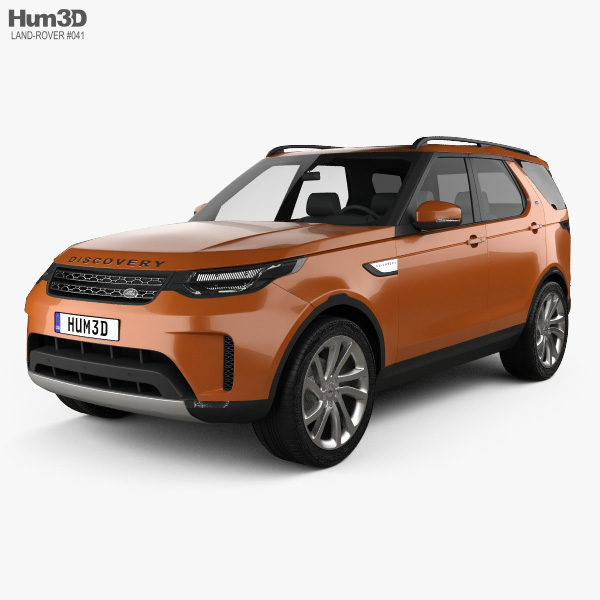 3D model of Land Rover Discovery HSE 2017