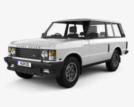 3D model of Land Rover Range Rover 3-door 1986