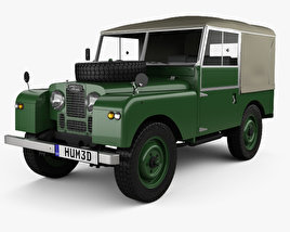 3D model of Land Rover Series I 80 Soft Top 1953