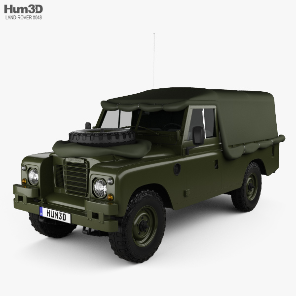 3D model of Land Rover Series III LWB Military FFR 1985