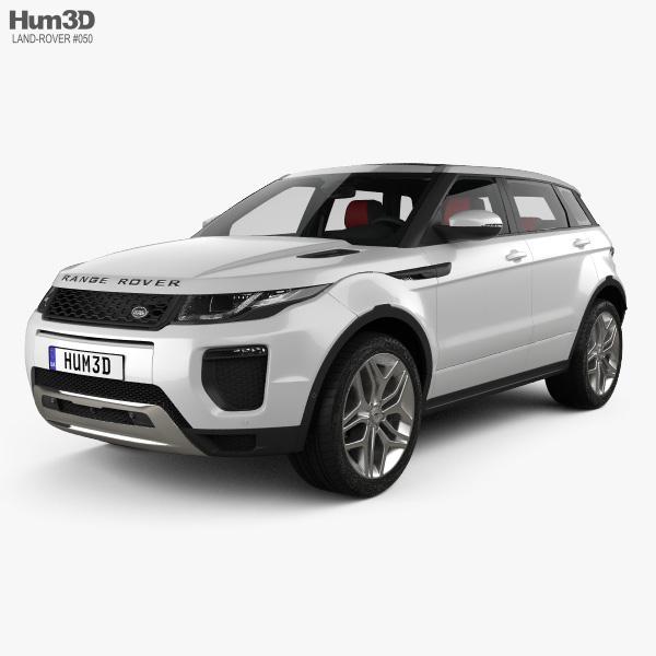 Land Rover Range Rover Evoque HSE 5ドア HQインテリアと 2015 3Dモデル