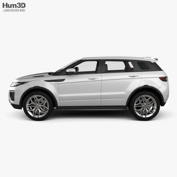 Land Rover Range Rover Evoque HSE 5-door with HQ interior 2015 3D model