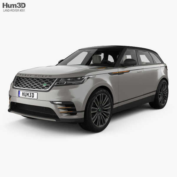 3D model of Land Rover Range Rover Velar First edition with HQ interior 2018