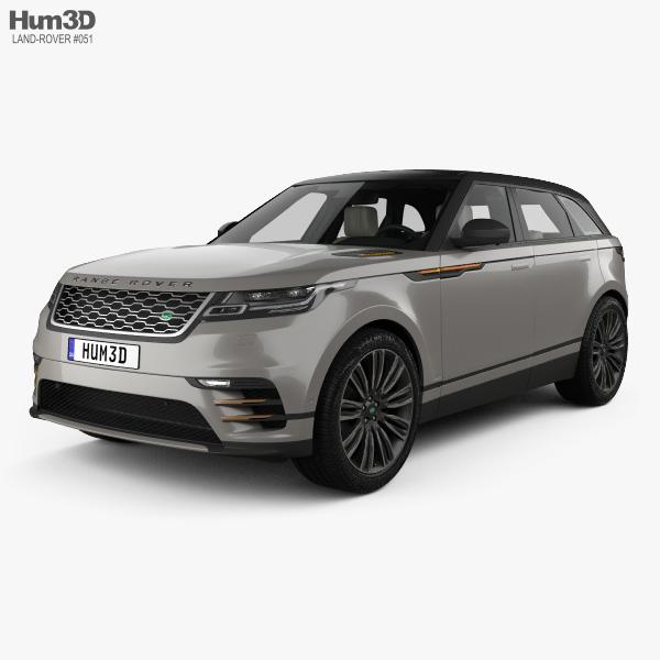 Land Rover Range Rover Velar First edition HQインテリアと 2018 3Dモデル