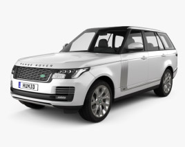 3D model of Land Rover Range Rover Autobiography 2018