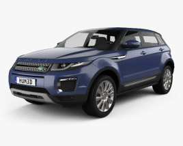 3D model of Land-Rover Range Rover Evoque SE 5-door 2015