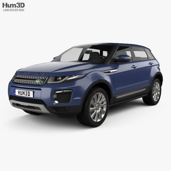 Land-Rover Range Rover Evoque SE 5ドア 2015 3Dモデル