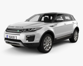 3D model of Land Rover Range Rover Evoque SE 5-door with HQ interior 2015