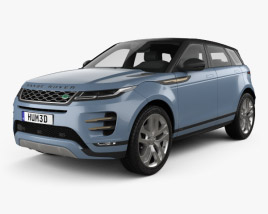3D model of Land Rover Range Rover Evoque R-Dynamic First Edition 2019