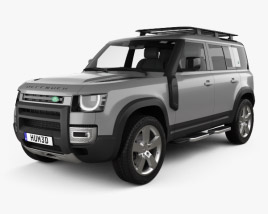 3D model of Land Rover Defender 110 Explorer Pack 2020