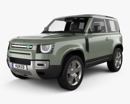 3D model of Land Rover Defender 90 2020