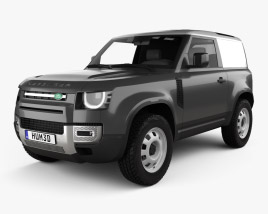 3D model of Land Rover Defender 90 HardTop 2020