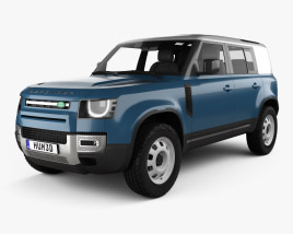 3D model of Land Rover Defender 110 HardTop 2020