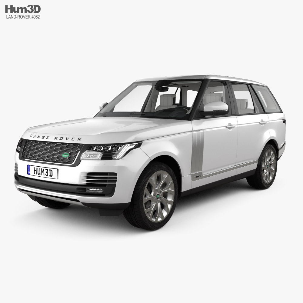 Land Rover Range Rover Autobiography with HQ interior 2018 3d model