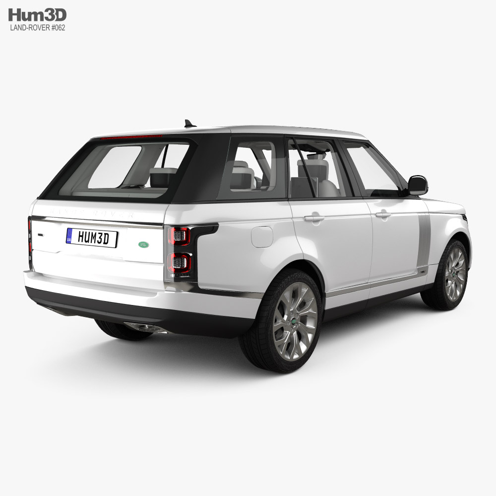 Land Rover Range Rover Autobiography with HQ interior 2018 3d model back view