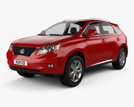 3D model of Lexus RX 2010