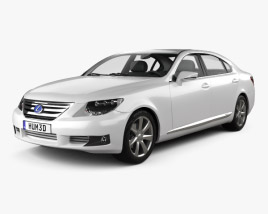 3D model of Lexus LS (XF40) 600h 2010