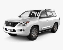 3D model of Lexus LX 570 (J200) 2010