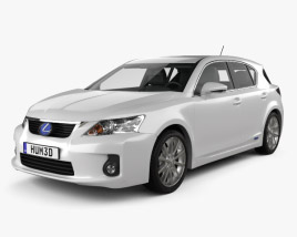 3D model of Lexus CT 200h 2011