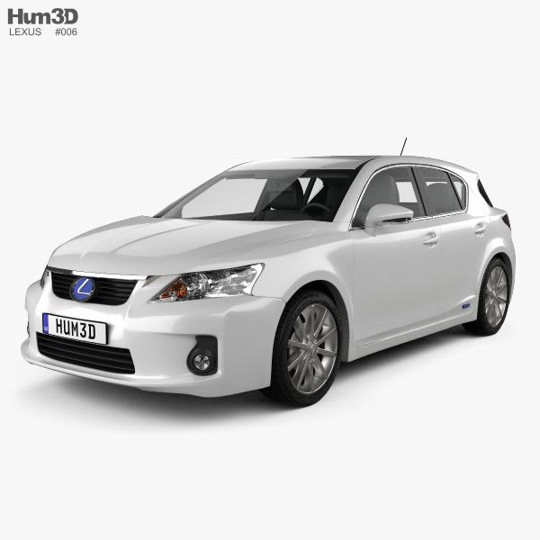 3D model of Lexus CT 200h 2011