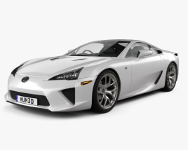3D model of Lexus LFA 2013