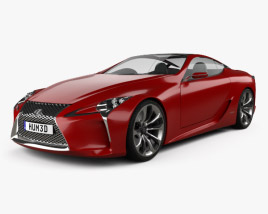 3D model of Lexus LF-LC 2012