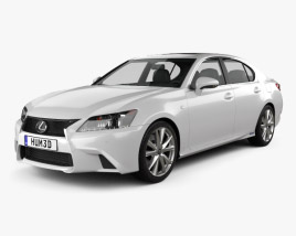 3D model of Lexus GS F Sport hybrid (L10) 2012