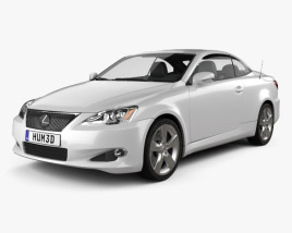 3D model of Lexus IS C (XE20) 2012