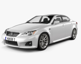 3D model of Lexus IS F (XE20) 2012