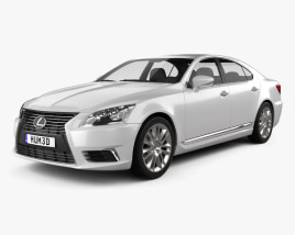 3D model of Lexus LS (XF40) 2012