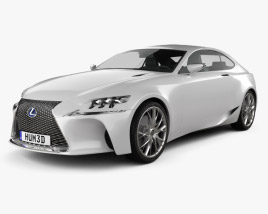 3D model of Lexus LF-CC 2012